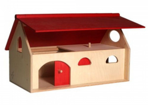 Van Dijk Toys junior farm 25 x 27 x 30 cm wood natural/red