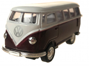 Toys Amsterdam bus Volkswagen T1 die-cast 1:64 staal bordeaux