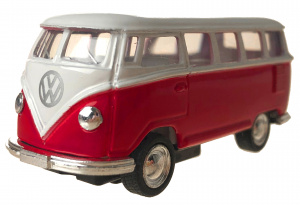 Toys Amsterdam bus Volkswagen T1 die-cast 1:64 staal rood