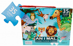 Van Manen bodenpuzzle Jungle junior 60 x 40 cm 35 Teile