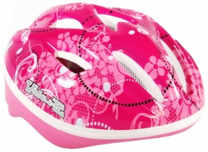 Volare Child bicycle helmets Deluxe Floral Pink