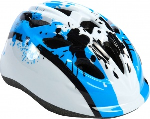 Volare kinderhelm junior blauw/wit