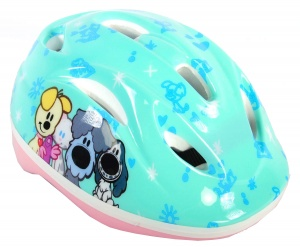 Volare Woezel & Pip fiets-/skatehelm turquoise
