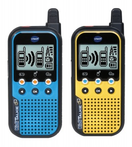 VTech KidiTalkie walkie-talkies 22 cm blue and yellow 2 pieces