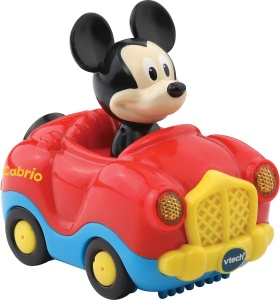 VTech Toet Toet car: Mickey Mouse in convertible red