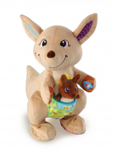 VTech Spring & Speel Kangoeroe 40 cm brown interactive cuddly toy