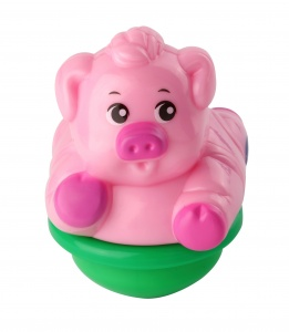 VTech ZoomiZooz Tuimeldiertje: Vic Pig 8,5 cm pink