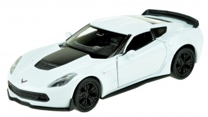 Welly schaalmodel Chevrolet Corvette 1:34 wit 11 cm