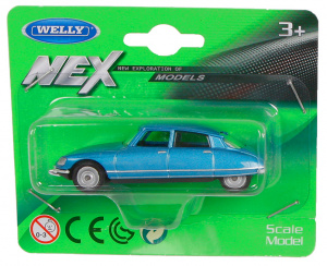 Welly scale model Citroën DS23 junior 1:60 die-cast blue