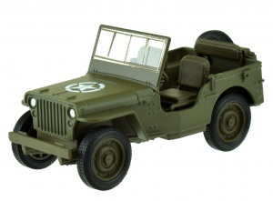 Welly schaalmodel Jeep Willys MB 1:34 diecast groen 12 cm