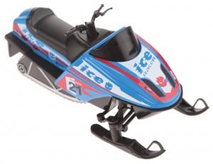 Welly snowmobile die-cast 13 cm blue