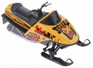 Welly snowmobile die-cast 13 cm yellow