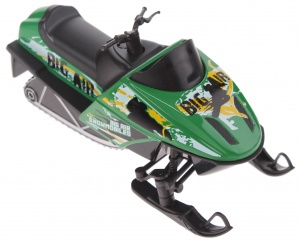 Welly snowmobile die-cast 13 cm green