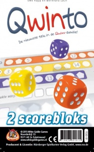 White Goblin Games expansion set Qwinto scoreblocks