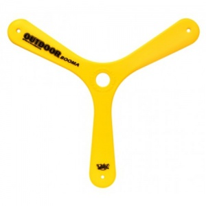 Wicked boomerang Booma Outdoor 44 gram geel 26,5 cm