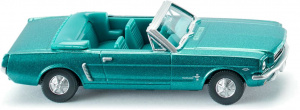 WIKING miniature Ford Mustang Cabriocar zinc 1:87 turquoise