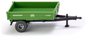 WIKING miniatur-Kipper Brantner Single Axle 1:87 grün
