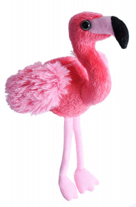Wild Republic knuffel flamingo junior 13 cm pluche roze