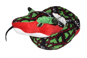 Wild Republic knuffel slang junior 137 cm pluche wit/rood