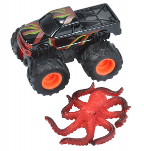 Wild Republic speelset truck en octopus junior zwart/rood 2-delig