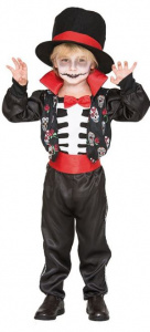 Witbaard costume suit Catrin polyester black/white/red