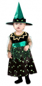Witbaard dress witch polyester black/green