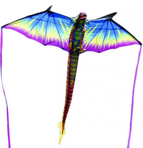 XKites lenkdrachen 3D Dragon junior 193 cm Nylon/Glasfaser blau