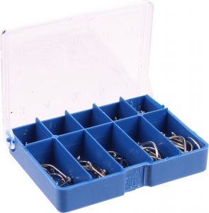 XQ Max fishing hook set blue 90 pieces