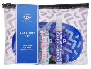 Yes Studio slaapmaskerset Zone Out PVC paars/roze 4-delig