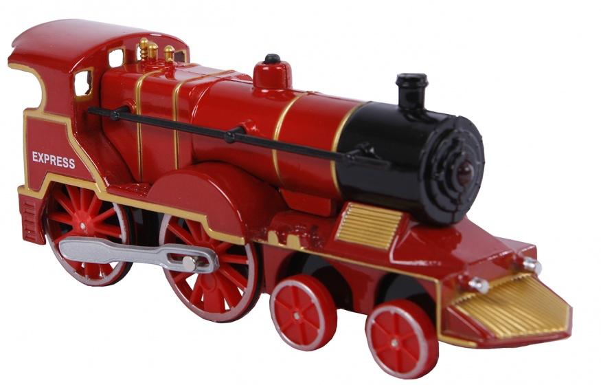 2 Play locomotief met licht en geluid pull back 14 cm rood kopen