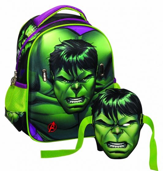 Giovas rugtas met masker Avengers: de Hulk groen 6,6 liter