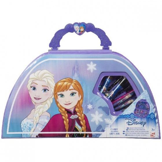 Sambro Frozen kleurkoffer Elsa & Anna 50 delig