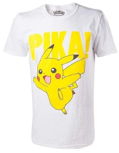 Bioworld Pokemon T shirt Pikachu unisex wit/geel maat L