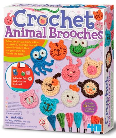 Zoekies.com - 4M Crea Easy Knit: gehaakte dierenbroches 33 delig | 19 - 95