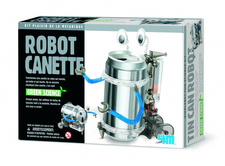 4M Fun Mechanics Kit: TIN Can Robot Franstalige Versie