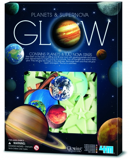 4M Glow in The Dark Pack:planeten en Supernova