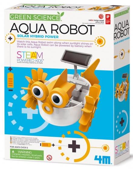 4M KidzLabs aqua robot geel/wit 28 cm