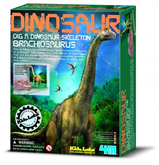 4M Kidzlabs: Graaf Je Dinosaurus Op Brachiosaurus Franstalig