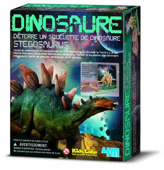 4M Kidzlabs: Graaf Je Dinosaurus Op Stegosaurus Franstalig