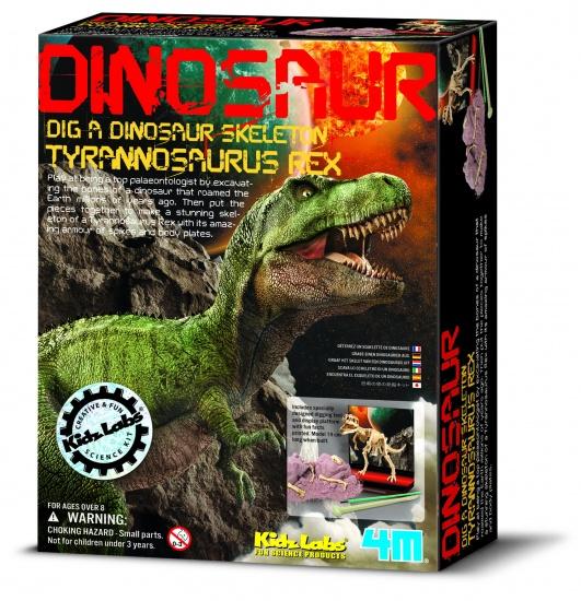 4M Kidzlabs: Graaf Je Dinosaurus Op T REX (franstalig)