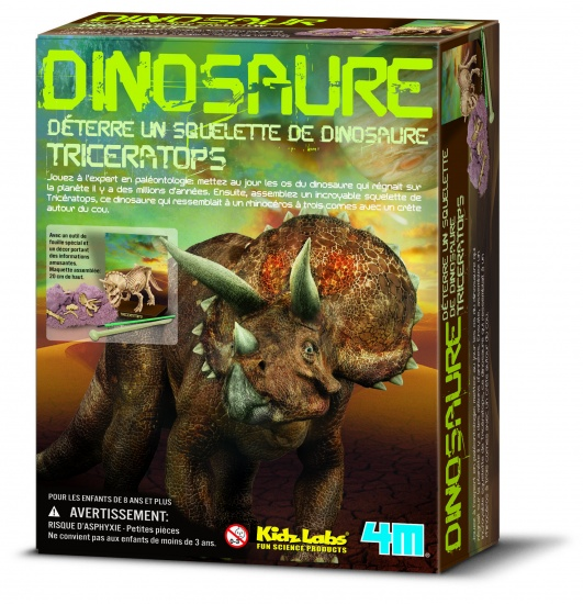 4M Kidzlabs: Graaf Je Dinosaurus Op Triceratops (franstalig)