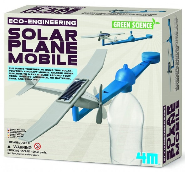 4M Kidzlabs green science/Eco Engineering: Solar Plane mobile