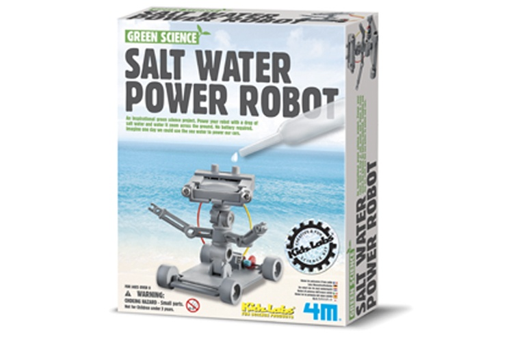 4M Kidzlabs Green Science zout water Power Robot