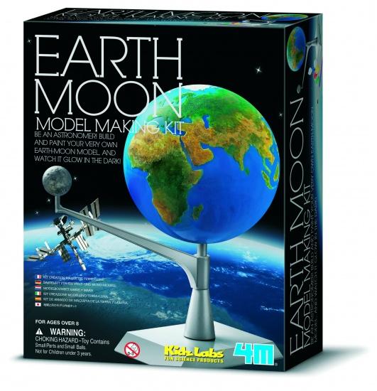 4M Kidzlabs Ruimte: Bouwset Maan Aarde (franstalig)