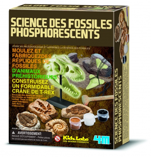 4M Kidzlabs Science: Glow in The Dark Fossielen (franstalig)