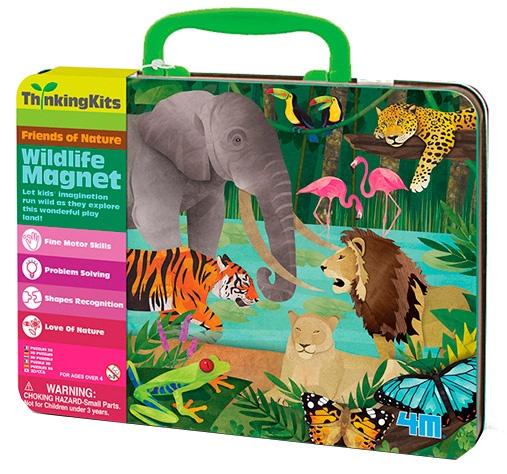 4M ThinkingKits magnetenset wilde dieren 48 delig
