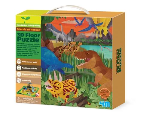 4M Vloerpuzzel 3D Dinosaurussen 15 stukjes