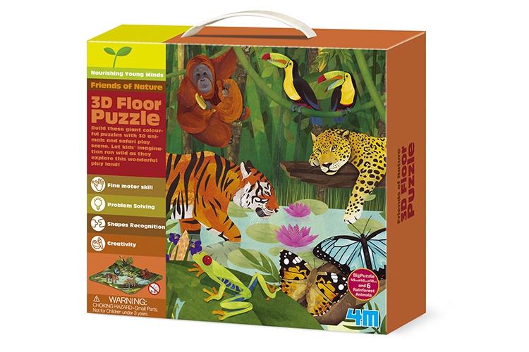 4M Vloerpuzzel 3D Jungle 15 stukjes