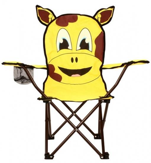 Abbey Animal Comic Vouwstoel Kinderen Uil Geel Met Bruin