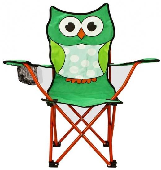 Abbey Animal Comic Vouwstoel Kinderen Uil Groen Met Oranje